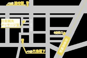 白金鍼灸マッサージ室map